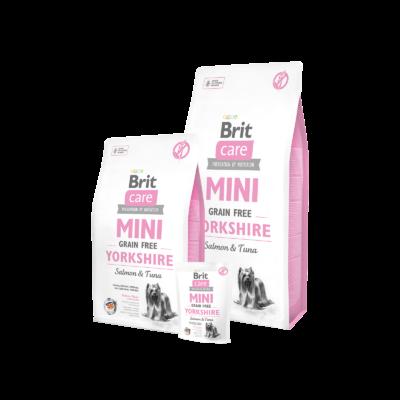 Brit Care Mini Grain Free Yorkshire Lazac és Tonhal kutyatáp