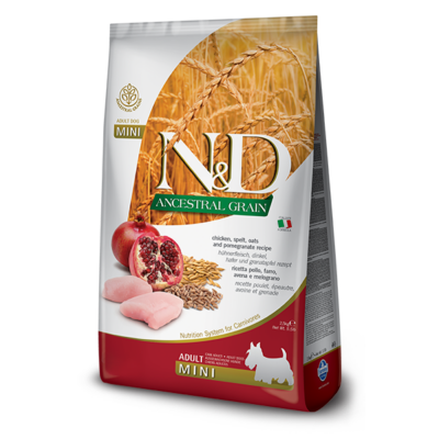 N&D Dog Low Grain Csirke&Gránátalma Adult Mini