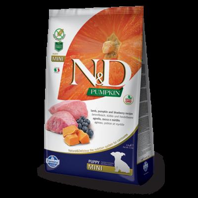 N&D Grain free bárány és áfonya sütőtökkel Puppy Mini 2,5 Kg