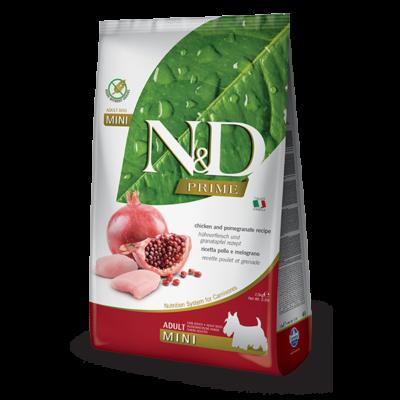 N&D Grain free csirke&gránátalma adult mini