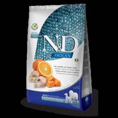 N&D Ocean hering&narancs adult medium/maxi