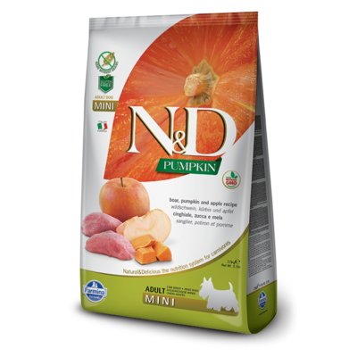 N&D Grain free vaddisznó és alma sütőtökkel Adult Mini 7 kg