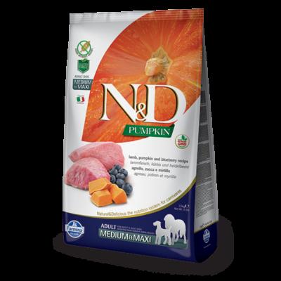 N&D Grain free bárány és áfonya sütőtökkel Adult Medium/Maxi