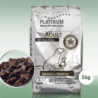 Platinum Natural Adult Iberico Greens kutyatáp 5 Kg