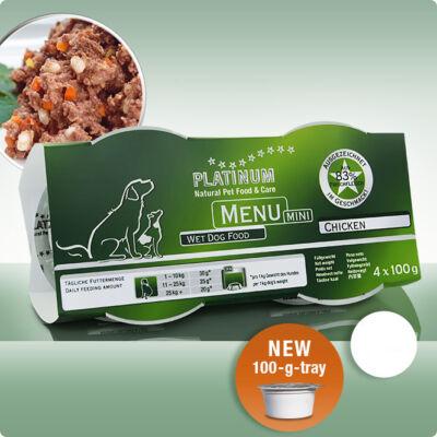 Platinum Menu Mini csirke nedves kutyatáp (1 csomag - 4 x 100 gr)