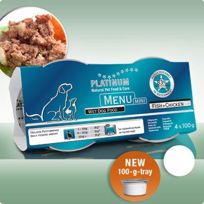 Platinum Menu Mini Hal + Csirke nedves kutyatáp