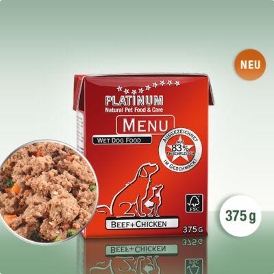 Platinum Menu Marha + csirke nedves kutyatáp (375 g)
