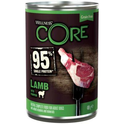 Wellness Core 95 Dog Konzerv Bárány és Sütőtök 400g