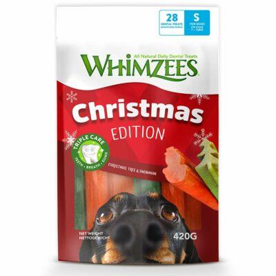Whimzees Christmas Edition hóember és fenyőfa jutalomfalat
