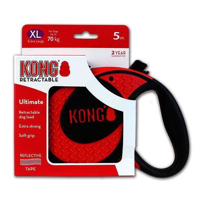 Kong Ultimate visszahúzódó póráz piros